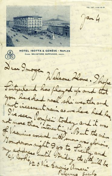 A letter from the Holst Archive