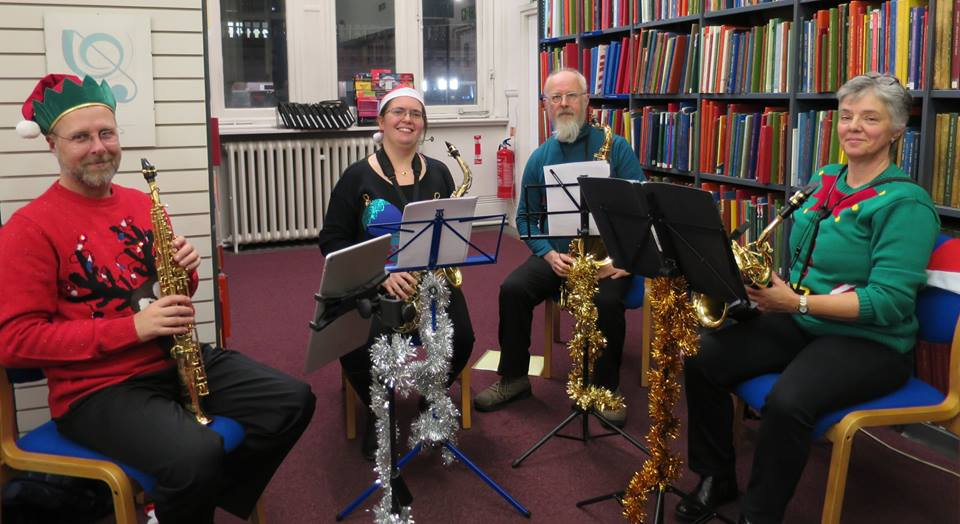 The London saxophone choir wishing you a Merry Christmas